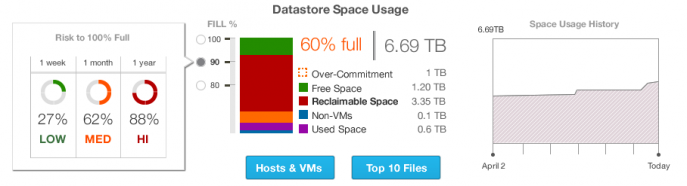 Capacity Management: Datastore Space Usage