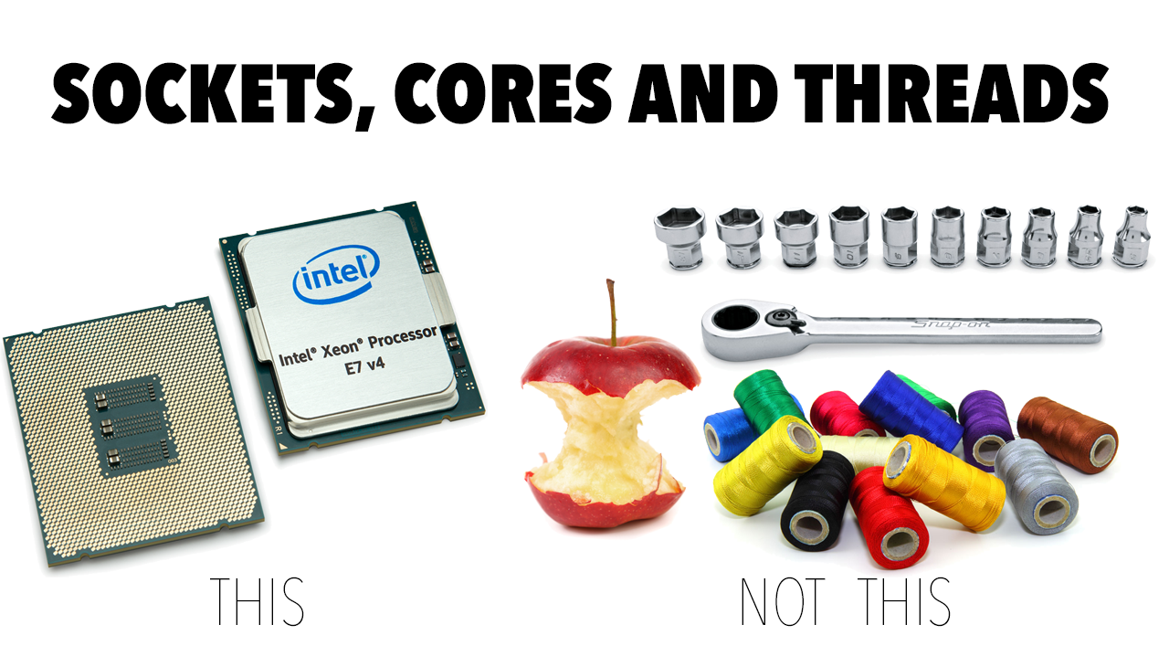 difference between cores and threads processor